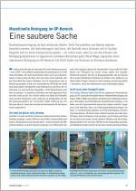 Eine saubere Sache - Maschinelle Reinigung im OP-Bereich